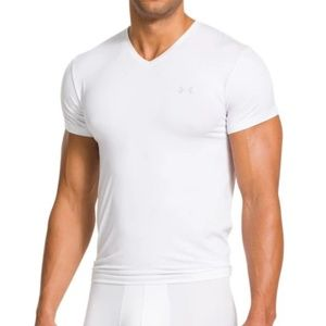 under armour mens 2xl white compression vneck tee
